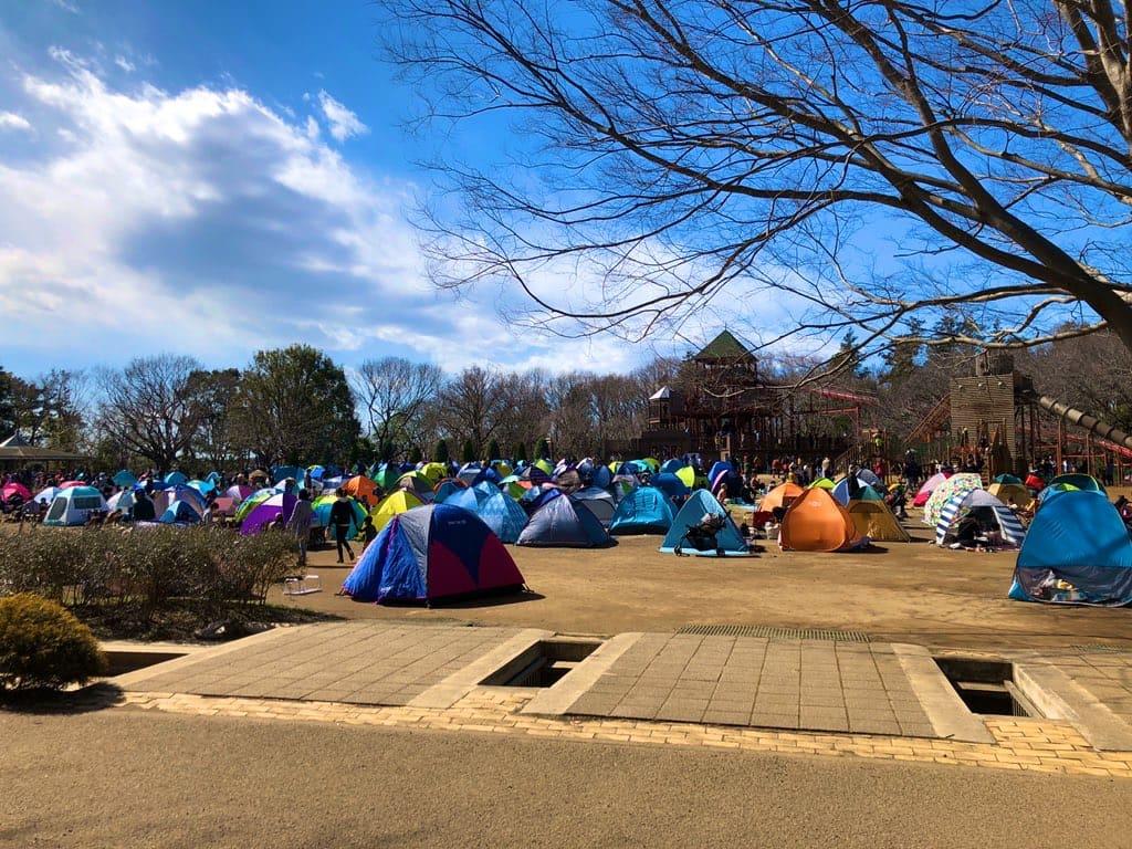 ふなばしアンデルセン公園テント