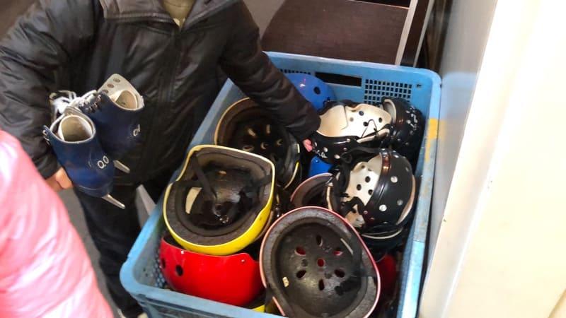 高崎市ニューサンピアスケート場ヘルメット