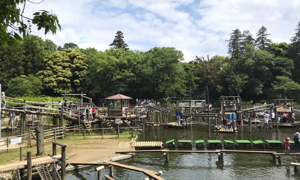 清水公園のフィールドアスレチック
