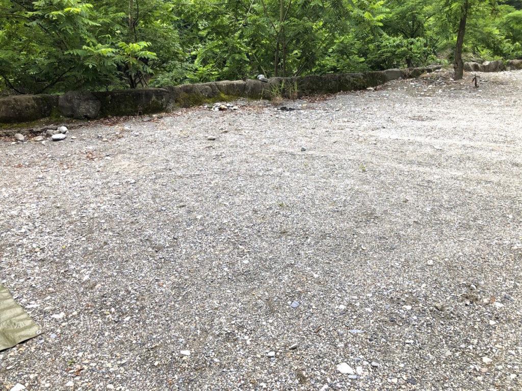 将門の滝オートキャンプ場砂利